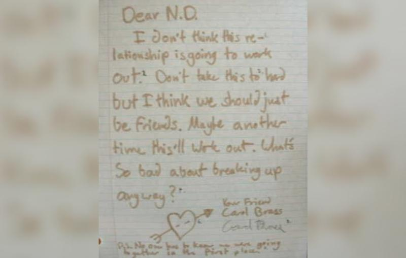 Sweet break up letter
