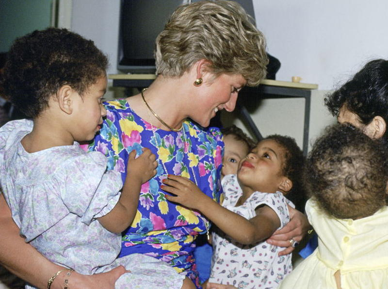 The Princess Of Wales Visiting A Hostel For Abandoned Children In Sao Paulo, Brazil